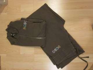BCBG Womens Track Jacket Pants suit YOGA work out sweat Athletic