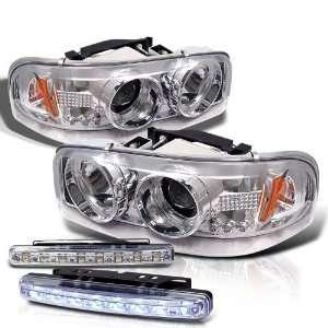 Chevy Sierra Denali Projector LED Head Lights+LED Fog (View