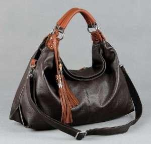 Real Leather Tote Shoulder Bag Purse Hobo Handbag B091
