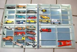 23 1970s 80s Vintage Hot Wheel cars and collector case & One red line