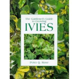 : Gardeners Guide to Growing Ivies (9780715304983): Peter Rose: Books