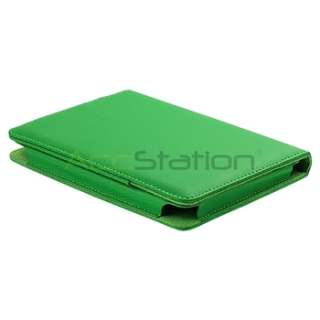 Green Leather Case Folio Cover For Kindle Touch Ebook Reader
