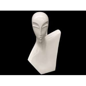 (MD BLADE) Glossy White Female Egg Head Mannequin Abstract