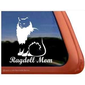 Ragdoll Mom Cat Vinyl Window Decal Sticker Automotive