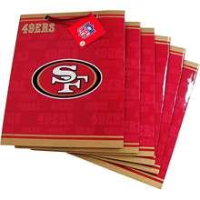 Pro Specialties San Francisco 49ers Team Logo Medium Size Gift Bag (6