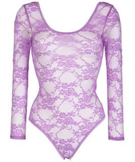 Purple (Purple) Purple Lace Bodysuit  250882950  New Look