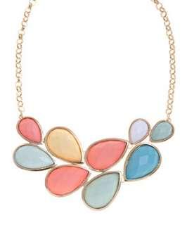 null (Multi Col) Bright Opaque Stone Collar Necklace  246981499  New