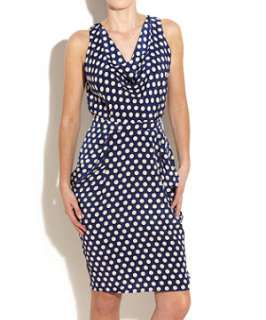 Navy (Blue) Yumi Polka Dot Tulip Dress  247332541  New Look