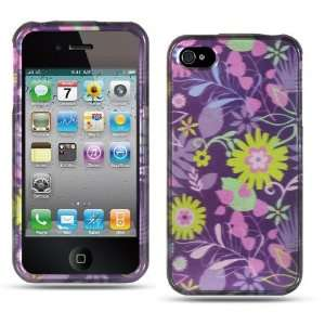 Apple Iphone 4, 4s Phone Protector Hard Cover Case Purple