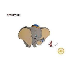 Walt Disney, Dumbo   Animation Sericel   12.00x10.75 Home