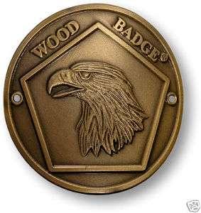 BOY SCOUT WOOD BADGE EAGLE HIKING STICK MEDALLION