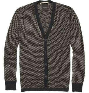 Clothing  Knitwear  Cardigans  Wave Knit Wool Blend Cardigan