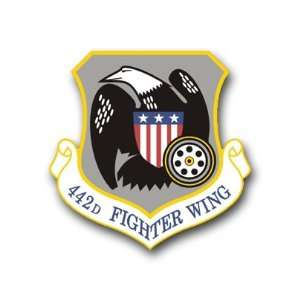 US Air Force 442nd Fighter Wing Decal Sticker 3.8 6 Pack