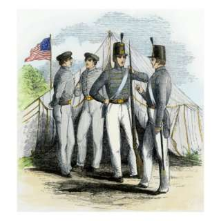 Cadets at the Us Military Academy, West Point, 1850s Giclee Print at