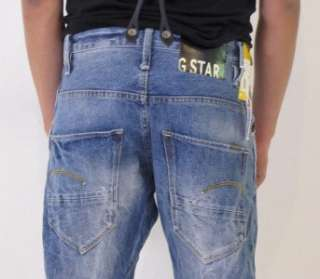 Star Jeans Arc 3D Loose Tapered Braces LT Aged T.P. Oligo Denim Blue
