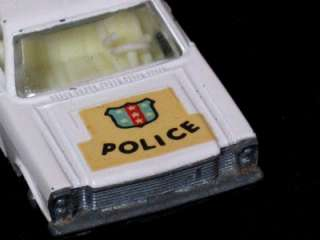 RARE CAR LESNEY MATCHBOX FORD GALAXIE POLICE C/D NO. 55/59