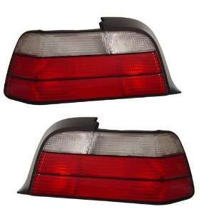 1992 1998 BMW E36 3 Series 2D KS TL Red/Clear Tail Lights