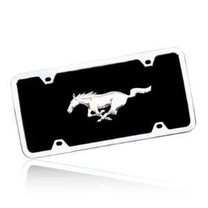 Ford Mustang Running Pony Black Acrylic License Plate Kit, Official