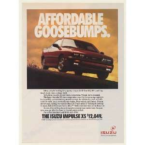 1991 Isuzu Impulse XS Affordable Goosebumps Print Ad