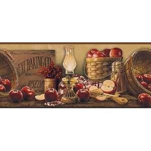 Apple Collection Country Wallpaper Border (KE4914BD): Home