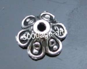 100Pcs Tibetan Silver Flowers Saucer Spacer Beads T11