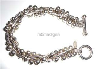 Silpada Rare DNA .925 Sterling Silver Bead Bracelet Retired B0523 Gift