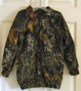STEARNS DRY WEAR MOSSY OAK CAMO JACKET BOY/YOUTH SZ S