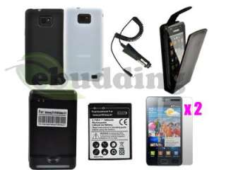 Accessory Bundle Kit Leather Case Battery Charger for Samsung Galaxy
