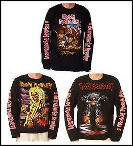 Iron Maiden Long Sleeve T Shirts S, M, L, XL, XL2