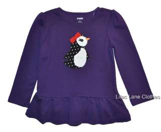 Winter Penguin Velour Hoodie Dress Black Purple Red U Pick NWT