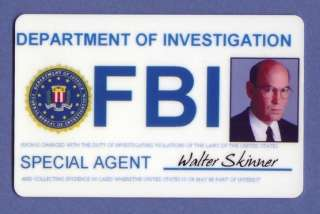 FBI Special Agent Walter Skinner ID Card