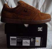 NEW DC MENS SKATE SHOE LANDAU S DARK COPPER SZ 8