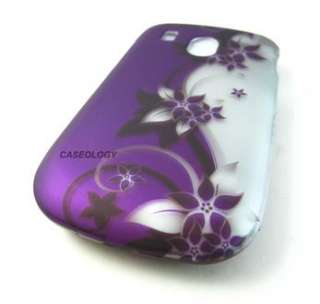 PURPLE SILVER VINES HARD SHELL SNAP ON COVER CASE FOR LG 500G PHONE