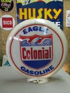 Old Colonial Gasoline Gas Pump Globe Capco W/ Eagle Graphics Motor