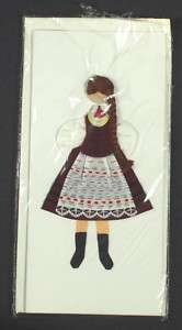 HANDMADE Greeting Card   Polish Folk Costume POLAND [1]
