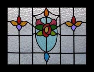 MACKINTOSH ROSE ART NOUVEAU STAINED GLASS WINDOW