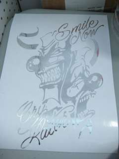 10 Car Vinyl Decal Sticker Smile Now Cry Later