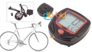 LCD Bike Bicycle Cycle Computer Odometer Speedometer NR