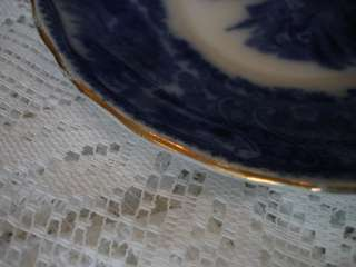 Antique Burgess & Leigh Nonpareil Flow Blue Saucer