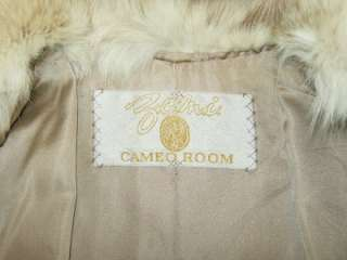 CAMEO ROOM~RARE~VINTAGE BEIGE/TAUPE PERSIAN LAMB COAT/JACKET W/FOX FUR