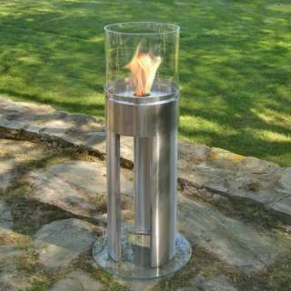 EcoFlame Stainless Steel Freestanding Fireplace
