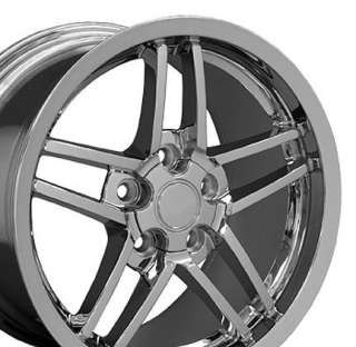18 Chrome Rims Fit Camaro Corvette C6 Z06 Deep Dish Wheels