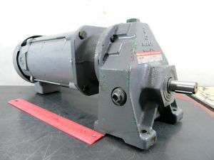 BOSTON GEAR 3/4 HP DC MOTOR W/ GEAR DRIVE RUDUCTOR USED