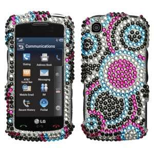 Bubble Crystal Bling Hard Case Cover for AT&T LG Encore GT550