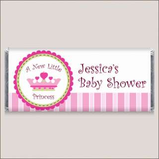 Princess Girl Baby Shower Candy Bar Wrapper Favors
