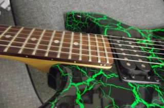 BC Rich Warlock Platinum Series (Metallic GREEN GUITAR IN HARD CASE