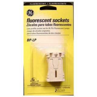 GE Low Profile Sockets for Medium Bi Pin Fluorescent Lamps (2 Pack