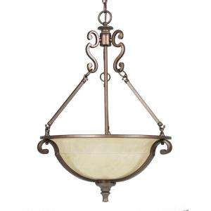 Home Decorators Collection Fairview 3 Light Heritage Bronze Pendant