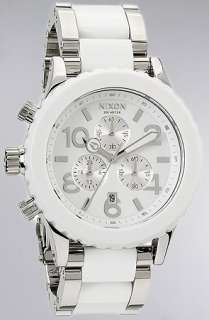 Nixon The 4220 Chrono Watch in High Polish White Acetate  Karmaloop