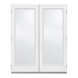 JELD WEN 72 in. x 80 in. White Left Hand Outswing French 1 Lite Patio